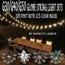 100 foot g30 outdoor lighting patio globe string lights clear