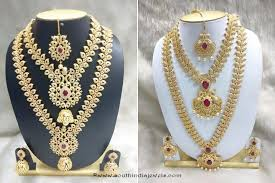 indian wedding necklace sets images Grand south indian bridal jewellery set from simma jewels south jpg