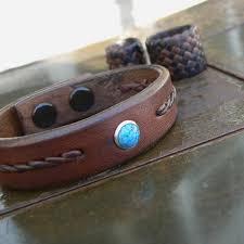 braided leather bracelet women images Turquoise leather bracelet men 39 s women 39 s braided leather jpg