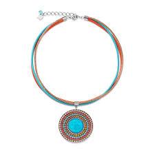 turquoise coloured necklace images Coeur de lion multi coloured daylight swarovski crystals necklace jpg