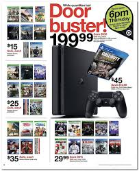 target black friday sales includes ps4 xbox one for 200