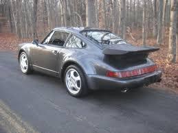 porsche slate gray fs 1991 911 964 turbo 63k miles slate grey metallic 110k