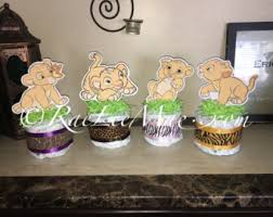 baby simba diaper cake mini lion king baby shower lion king