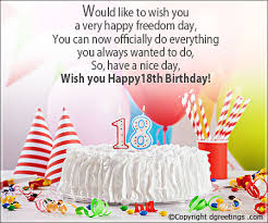18 birthday messages dgreetings com