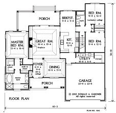 house plans floor master home plan the lujack by donald a gardner architects