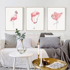 Flamingo Home Decor Modern Nordic Minimalist Motivational Typography Life Quote Art