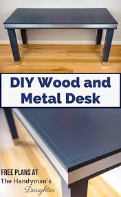 Diy Modern Desk Diy Wood And Metal Desk The Handyman S