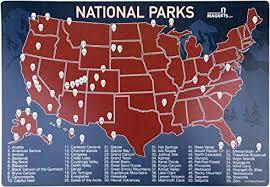 map us parks us national parks map fridge magnet travel map of
