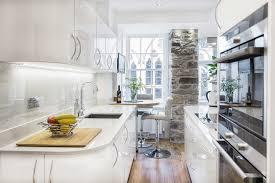 Contemporary Kitchen Wallpaper Ideas Small Galley Kitchen Ideas Kitchen Eclectic With Kitchen Wallpaper