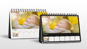 chevalet de bureau personnalisé calendrier bureau hebdo premium luxe monalbumphoto