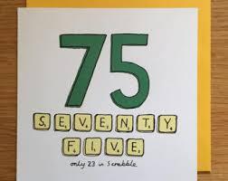 75th birthday card etsy