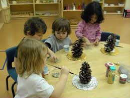 christmas craft fun pine cone trees preparations dma homes 8818