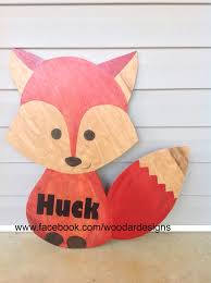 Porch Hangers by Fox Wooden Door Hanger Www Facebook Com Woodardesigns Door