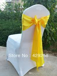 yellow chair sashes wholesale white spandex chair covers yellow satin chair sashes