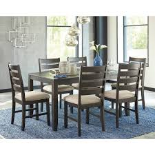 7 dining room set signature design by rokane brown 7 dining room table