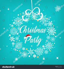 christmas party sign text over beautiful stock vector 531310249