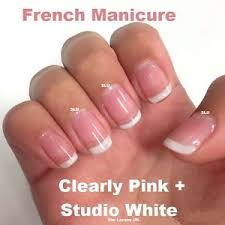 bluesky french manicure stuido white clearly pink duo twin pack