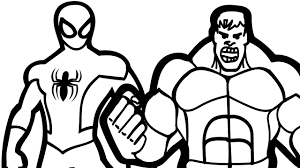 spiderman and hulk coloring book coloring pages kids fun art