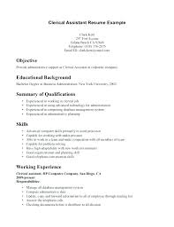 clerical resume templates top objective for clerical resume articlesites info