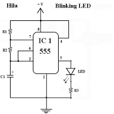 blinking ledcircuit is an electrical circuit used to power