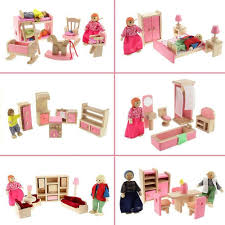 wooden dolls house furniture pretend play miniature kitchen bed wooden dolls house furniture pretend play miniature kitchen bed livingroom restaurant bedroom bathroom for kids toy gift hot in furniture toys from toys