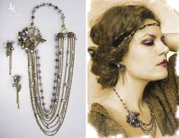 20 s earrings brooch necklace and earrings melody of the dusk by