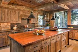 rustic kitchen islands countertops backsplash finished wooden kitchen cabinet