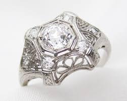 filigree engagement ring edwardian diamond platinum filigree ring platinum diamond