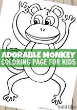 cute baby monkey coloring pages happy dog coloring page for kids trail of colors