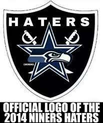 Raider Hater Memes - nfl memes on twitter the 2014 niners haters cowboys seahawks