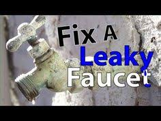 How To Change A Water Faucet Outside How To Fix An Outside Faucet Leak Faucet Wooden Ice Chest And Yards