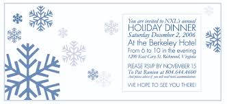 december dinner blank invitation clipart collection