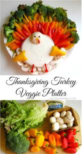 lindsay bakes thanksgiving turkey veggie platter gobble