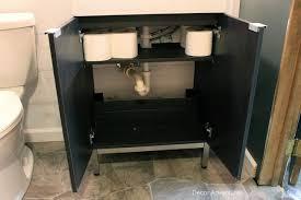 Ikea Bathroom Sink Cabinets by New Basement Bathroom Vanity Ikea Style Decor Adventures