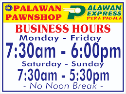extended u0026 special business hours palawan pawnshop
