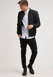 selected homme men jackets shxpete bomber jacket black