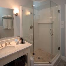 Bathroom Glass Shower Ideas by Bathroom Fair Picture Of White Bathroom Decoration Using Corner
