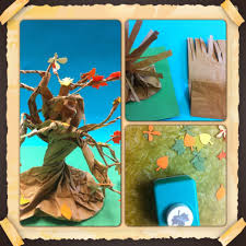 paper bag tree fun art 4 kids