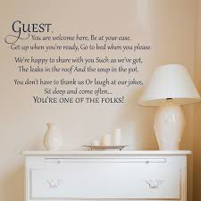 bathrooms and laundry archives a great impression guest you are welcome here wall decal