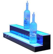 led lighted bar shelves 33 led lighted bar shelves two step bottle shelf display