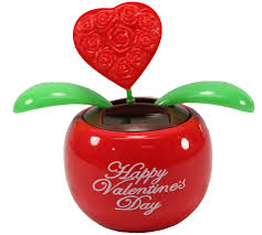 amazon com lovers u0027 gift 1 red heart in red pot solar toy
