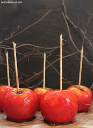 candy apples peanut buttered