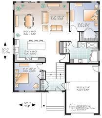 split entry floor plans house plan w3281 v1 detail from drummondhouseplans com