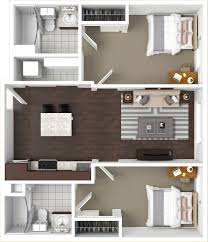 two bedrooms floorplans the cadence tucson