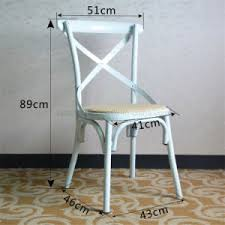 Classic Bistro Chair China Classic Bistro Metal Dining Cross Chair Sp Mc059 China