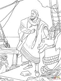 christopher columbus on the santa maria coloring page free