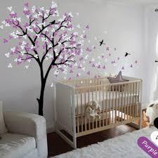 Modern Nursery Wall Decor Modern Baby Nursery Tree Wall Decals Mural Decor Blossoms