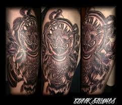 owl half sleeve by misseenk on deviantart