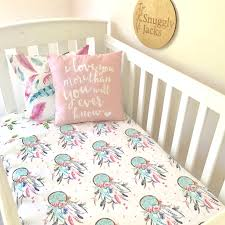 Single Bed Duvet Pink And Aqua Dreamcatchers Single Bed Quilt Cover