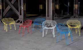 Patio Furniture Metal Mesh - continuous wire chair by wilde spieth cu